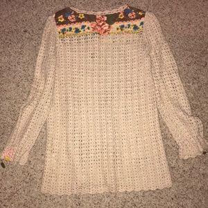 Free People Sweaters - Free People crochet sweater  size M